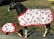 Valentineand039s Day Blanket Set Tack Fits Traditional Breyer Mare And Foal Model Horse