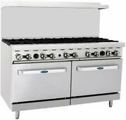Atosa Ato-10b Cookrite 60 10 Burner Gas Range With Double Ovens