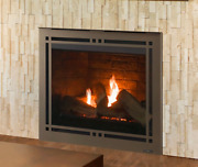 Majestic Meridian Platinum 36 Direct Vent Gas Fireplace With Log Set And Embers
