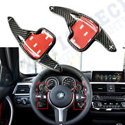 Carbon Fiber Steering Wheel Shifter Paddle Extension For Bmw 2 3 4 5 12-19