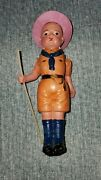 Toy Celluloid Made In Japan Boy Scout Moveable Arms Doll Leader Scouts Antique