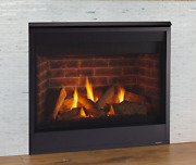 Majestic Quartz 32 Direct Vent Natural Gas Fireplace W/ Log Set And Glowing Embers