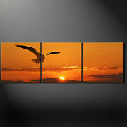 Sunset Seagull Canvas Wall Art Picture Print Variety Of Sizes Free Uk Pandp
