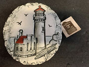 Vintage Shapes Of Clay Lighthouse By Stan With Mt St. Helensand039 Ash Originaltag