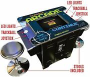 Retro Classic Cocktail Arcade Video Game Machine 60 Games With Free Stools