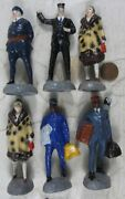 Lot Of 1920and039s Composition 3 1/2andrdquo Japan Wwi Lionel Train People Black Porter