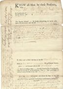 [bunker Hill] Colonial Ma Prescott Deed Signed By 3 Revolutionary War Soldiers