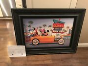 Disney Mickey Minnie Mouse Giclee Yellow Coupe Manny Hernandez 136/195. 32 Ford