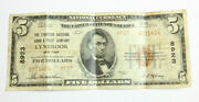 1929 5 Lynbrook City New York State Rare National Currency Low Serial Nr