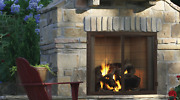 Majestic Castlewood 42 Outdoor Wood Fireplace With Stainless Steel Grate