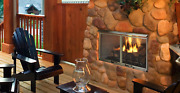 Majestic Villa 42 Gas Outdoor Fireplace With Log Set And Stainless Steel Grate