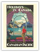Canada Holiday - Canadian Pacific Railway - 1930 Vintage Travel Poster Art Print