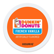 Dunkinand039 Donuts French Vanilla Coffee K-cups For Keuring K Cup Brewers