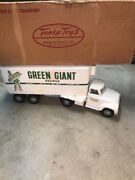 Vintage 1950and039s Tonka Pressed Steel Green Giant Tractor Trailer Semi Truck And Box
