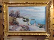 John Clymer Impressionist Oil Painting Listed Artist Very Large Seascape