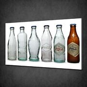 Old Coca Cola Bottles Canvas Picture Print Wall Hanging Art Home Decor