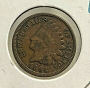 1894 1c One Cent Indian Head Us Coin Xf