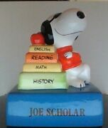 Vintage Peanuts Snoopy Joe Scholar Willitts Music Box Excellent Condition