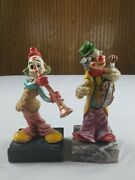 Vintage Clown Collector Figurines Made In Italy Vintage 6 Tall