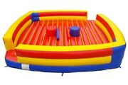 Commercial Inflatable Game - Pedestal Joust Arena With Accessories And Free Blower