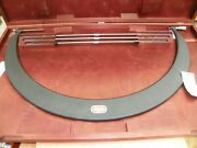 Starrett 30-36 Outside Micrometer W/ Interchangeable Anvils And Gage Rods