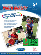 200 Sheets Photo Paper Premium High Glossy 8.5 X 11 Ships Fedex 2 Day Service