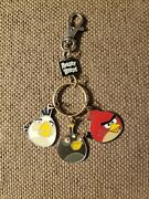 Angry Birds Keychain Red White And Black Birds