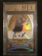 2010 Christian Yelich /50 Bowman Sterling Auto Rc Gold Refractor Bgs 9.5 Sp Rare