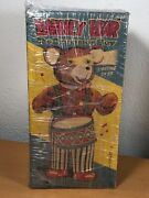 Mint Boxed Cragstan Alps 1950 Barney Bear Drummer Boy Battery Operated Tin Toy