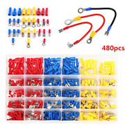 Car Electrical Wire 480pc Assorted Crimp Terminal Insulated Connector Spade Kit