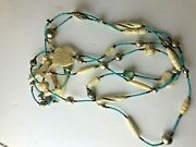Vintage Native American Hand Carved Animal Beads Skulls Turquoise Very Long