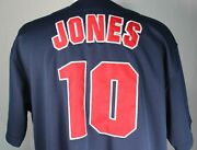True Fan Menand039s Xl Atlanta Braves 10 Chipper Jones Button Front Baseball Jersey