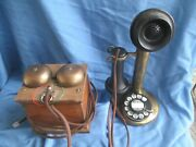 Western Electric 151al Brass Dial Candlestick Telephone