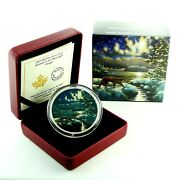 2017 Canada 30 Dollars 2 Oz 9999 Silver Animals In The Moonlight Cougar Color