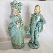 Vintage Coventry Ware Courting Couple Figurines Chalkware Victorian Opalescent
