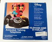 Mickey And Minnie Animated Corded Talking Telephone