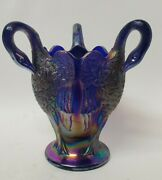 Vintage Imperial Carnival Glass 3 Headed Goose Swan Head Vase 8 1/2 Collectible