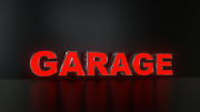 6pc Garage Led Black Side Panels, Storefront Sign, Complete And Ready To Install