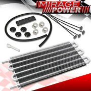 Universal Oil Transmission Power Steering Cooler Cooling 15x7.5x0.75 Silver