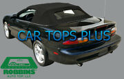 1994-2002 Camaro Convertible Top And Defrost Glass Robbins Oem Black Cloth
