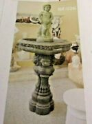 The Best Hand Carved Solid Marble Bird Bath 5and039 Tall Very Pretty Still In Crate
