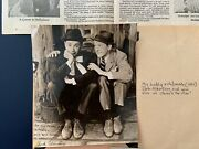 Actor Jack Albertson Black And White Autographed Photo And Newspaper Article And More