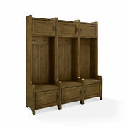Crosley Furniture Fremont Tower Entryway Hall Tree With Storage Set Of 3, C...
