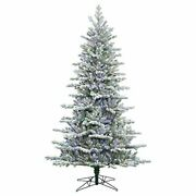 Vickerman 9and039 Frosted Eastern Frasier Fir Artificial Christmas Tree With 800 M...
