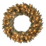 Vickerman 24 Antique Champagne Fir Artificial Christmas Wreath With 50 Warm ...