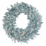 Vickerman 48 Silver Fir Artificial Christmas Wreath With 150 Warm White Led ...
