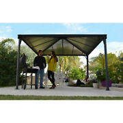 New Gazebo 10and039l X 10and039w Gray/bronze