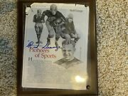 """'red"""" Grange Signed Newspaper Article"""