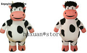 Easter Advertising 1.9m Halloween Inflatable Milk Cow Top Mascot Costume Suit