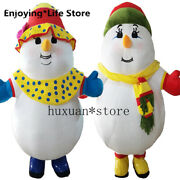 Easter 2m Inflatable Christmas Snowman Top Mascot Costumes Suits 1.6m To 1.8m